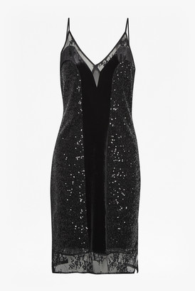 French Connection Iris Sequin Jersey Strappy Dress