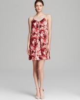 Adrianna Papell Spaghetti Strap Rose Print Dress