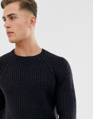 French Connection chunky twist yarn crew neck sweater
