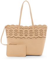 Shiraleah Kaitlyn Faux Leather Tote & Clutch