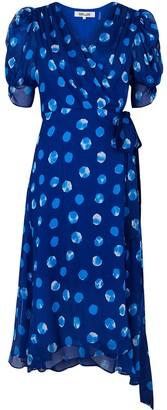 Diane von Furstenberg Kimoro printed silk-chiffon wrap dress