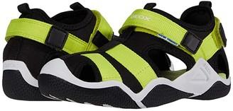 Geox Kids Wader 11 (Little Kid/Big Kid) (Black/Lime) Boy's Shoes