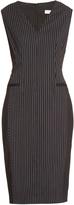 Altuzarra Nico hairline-stripe wool-blend dress