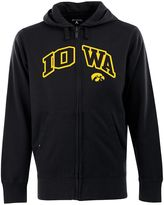 Antigua Men's Iowa Hawkeyes Signature Zip Front Fleece Hoodie