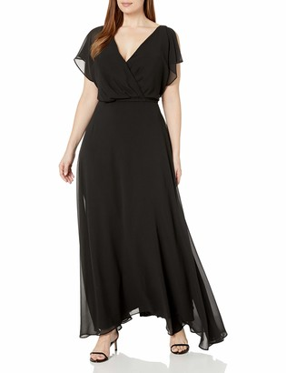 City Chic Women's Apparel Women's Plus Size Off The Shoulder Maxi Dress with lace Overlay