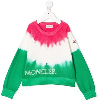 Moncler Enfant Tie-Dye Logo Embroidered Jumper