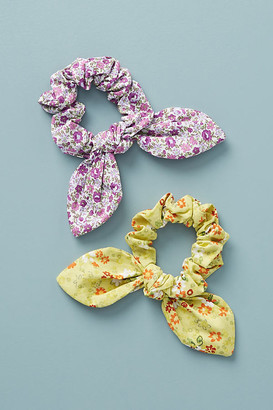 Anthropologie Kids Floral Scrunchies, Set of 2 By in Red Size ALL