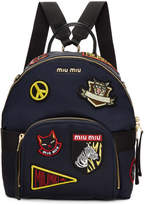 Miu Miu Navy Patches Backpack