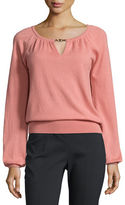 Tory Burch Marie Knit Keyhole Cashmere Sweater