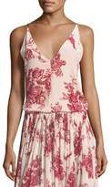 Giada Forte Liberty Floral-Print Velvet Camisole Top