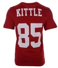 Nike San Francisco 49ers George Kittle Men's Pride Name and Number Wordmark T-Shirt