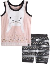 Vaenait Baby 12M-7T Kids Girls Summer Pajama Sleepwear Set Super Cat M
