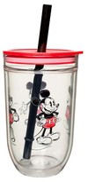 Mickey Mouse Disney®; Mickey Mouse 15oz Tumbler with Lid and Straw Red