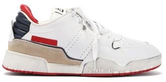 Isabel Marant Emree Aged-effect Leather Trainers - White Multi
