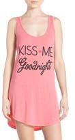 Junk Food Clothing &Kiss Me Goodnight& Jersey Sleep Shirt