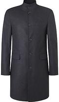 John Lewis Funnel Neck Wool Blend Overcoat