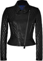 Burberry Quilted Leather Biker Jacket in Black