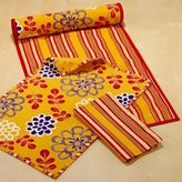 Dijon Tropical Reversible Runner, Placemats or Napkins Sets of 4