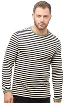 Farah Mens Ally Stripe Long Sleeve T-Shirt True Navy