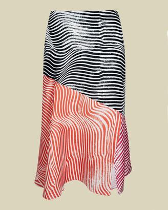 Ted Baker CANDDRA Zebra printed contrast midi skirt