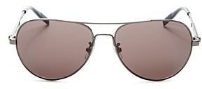 Montblanc Men's Brow Bar Aviator Sunglasses, 60mm
