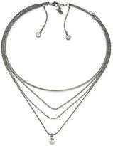 ABS by Allen Schwartz Crystal Multi-Row Choker Necklace