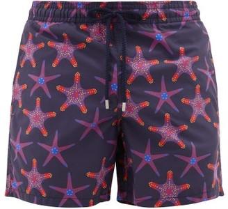 Vilebrequin Moorea Starfish-print Swim Shorts - Mens - Navy Multi