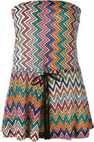 Missoni chevron knit playsuit - women - Polyester/Cupro/Rayon - 38