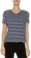 The Kooples Embellished Stripe Tee