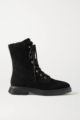 Stuart Weitzman Mckenzee Chill Suede Ankle Boots - Black