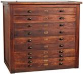 Rejuvenation Industrial 10-Drawer Map Cabinet