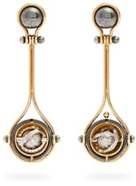 ELIE TOP Diamond, silver & gold Pluton earrings