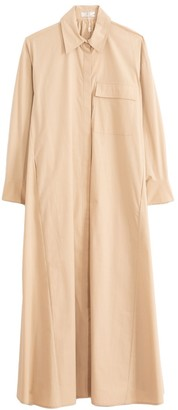 Co Winter Poplin Shirt Dress in Sand