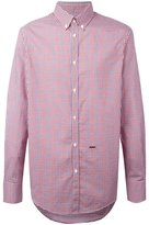 DSQUARED2 button collar checked shirt - men - Cotton - 50