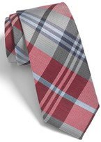 The Tie Bar Men's 'Crystal Wave' Silk & Linen Plaid Tie