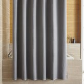 Crate & Barrel Willow Grey Shower Curtain