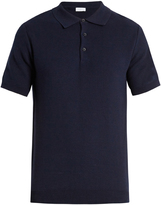 Sunspel Honeycomb-stitched cotton polo shirt