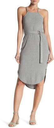 14th Place Sleeveless Belted Slip Dress