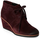 Franco Sarto Aubergine Austine Burnished Wedge Booties