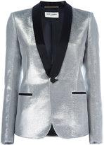 Saint Laurent Iconic Le Smoking jacket - women - Silk/Cotton/Lurex/Viscose - 38