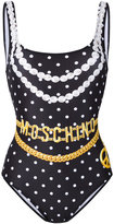 Moschino chain and necklace print swimsuit - women - Polyester/Spandex/Elastane - 42