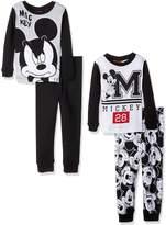 Disney Boys' Little Boys' Mickey Mouse Toddler 4-Piece Pajama Set