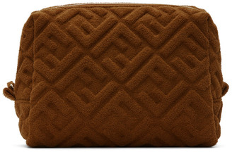 Fendi Brown Terrycloth Small Forever Beauty Pouch