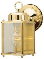 Westinghouse Lighting 66936 One Light Exterior Wall Lantern, Polished Brass