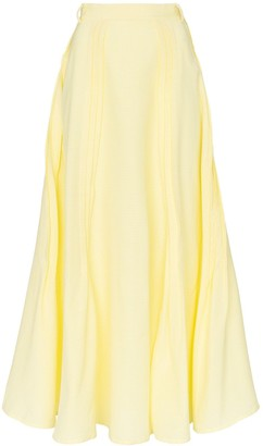 N DUO It's Always Sunny cotton-blend maxi skirt