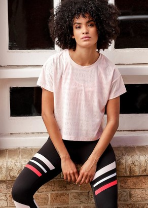 Lorna Jane Never Give Up Mesh Tee