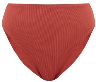 JADE SWIM Incline Ribbed High-rise Bikini Briefs - Womens - Burgundy
