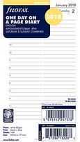 Filofax Day Per Page 2018 Diary Inserts, Personal