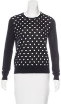 L'Agence Silk-Blend Heart Patterned Sweater