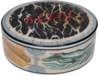 Gucci Hand Painted Marble Effect Round Box